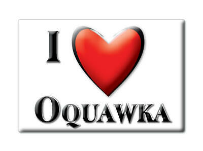 $ CDN4.37 • Buy Oquawka (il) Fridge Magnet Gift America I Love Souvenir Usa Indiana-2043