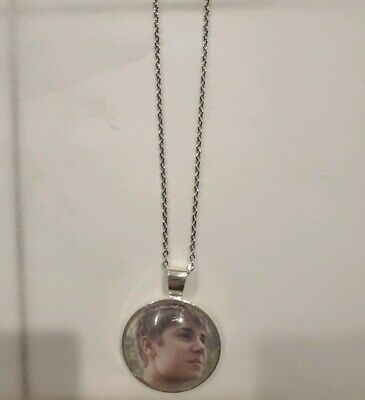 £5.08 • Buy Justin Bieber Unisex Silver Pendant Necklace Adult / Kid New With Organza Bag
