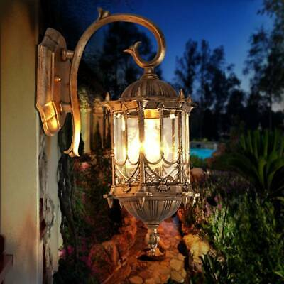 Traditional Style Outdoor Garden Wall Light Lantern Lighting Vintage Lamp Holder • 15.95£
