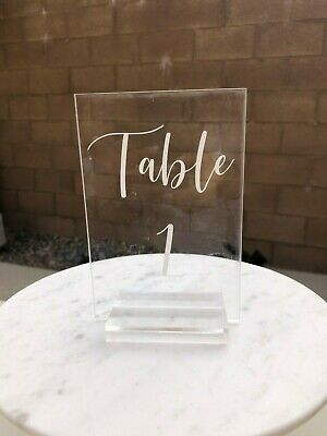 $80 • Buy Acrylic Table Signs + Stands Numbers 1-20