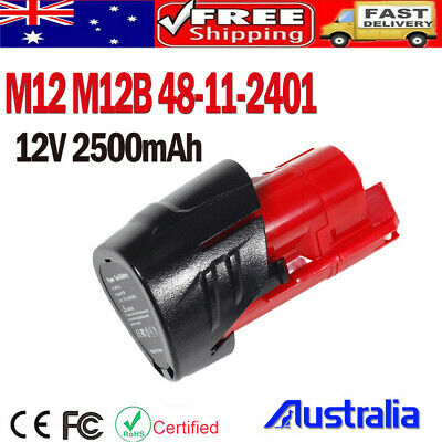 AU12.99 • Buy Battery M12B  For Milwaukee 12V 2.5Ah Li-Ion 48-11-2411 48-11-2440 2451 C12 B