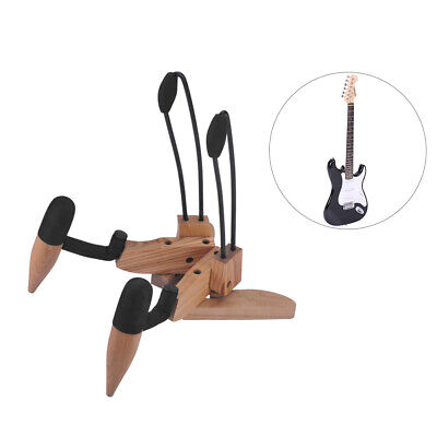 $ CDN92.46 • Buy Hardwood Collapsible Folding Stand Bracket Holder For Electric Guitar Bass S3U6