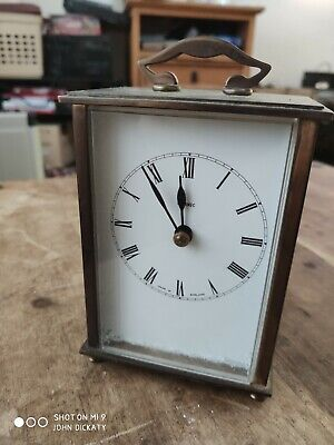Vintage Metamec Carriage Clock Brass Transistor Battery Circa 1970s For Project? • 15£