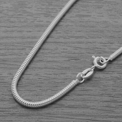 £7.30 • Buy Genuine 925 Sterling Silver 1.9mm Real Snake Chain Necklace