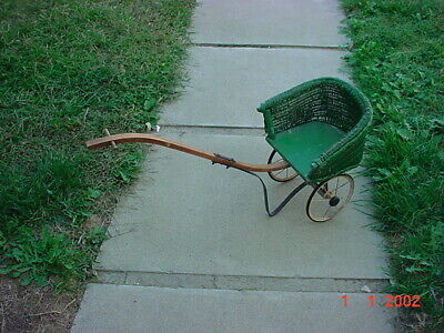 £69.57 • Buy Antique Hedstrom-union Wicker Baby Doll Carriage Pram Stroller Buggy Pull Toy