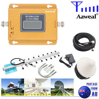 AU95.99 • Buy  2100MHz 3G 4G Signal Booster Home Repeater Amplifier Antenna Kit For Band 1