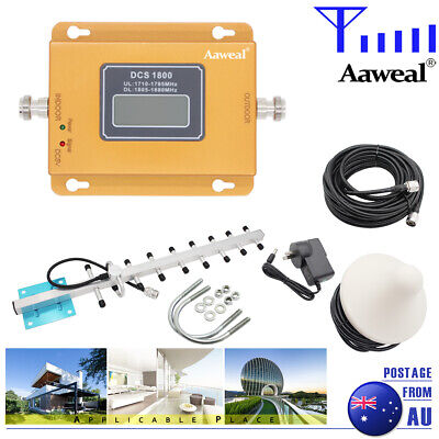 AU87.98 • Buy DCS 1800MHz Signal Booster Home Repeater 2G 4G Band 3 Amplifier Antenna Kits