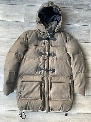 $705.16 • Buy Emporio Armani Brown Down Padded Wool Jacket Coat Parka 6z1l75 - M 48 - New Tags