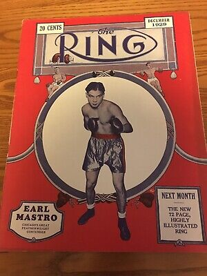 $990 • Buy 1929 The RING BOXING MAGAZINE Complete Full Year Set Of 12