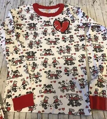 $15 • Buy Hanna Andersson 160 NWOT Disney Mickey & Minnie Mouse Valentine Pajamas