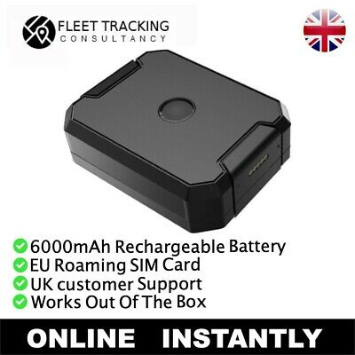 6000mAh Long Life Car Asset Caravan GPS Tracker Rechargeable Tracking Device • 49.95£