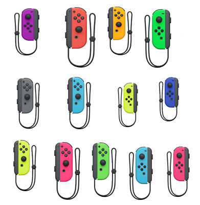 $49.99 • Buy Nintendo Switch Joy Con Blue Red Yellow Green Pink Gray Odyssey Purple Orange
