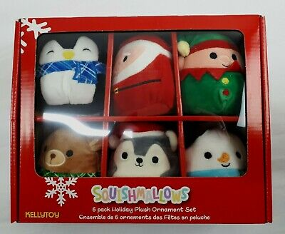 $ CDN39.90 • Buy SQUISHMALLOWS Holiday Plush Christmas Ornaments 6 Pack Kellytoy NEW