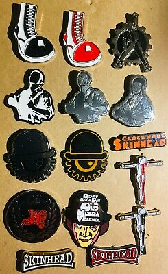 SKINHEAD Oi! Clockwork Orange Enamel Metal Pins  Punk Cockney Sparrer Business • 3.99£