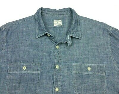 $19.99 • Buy J Crew Mens Slim Fit Chambray Long Sleeve Button Work Shirt XL