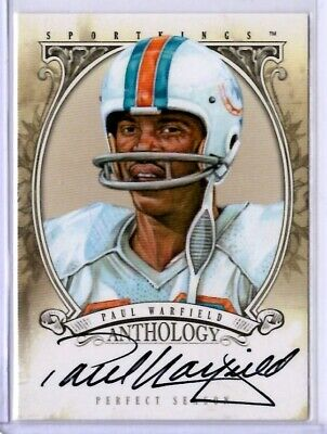$ CDN32.58 • Buy 2013 Sportkings F PAUL WARFIELD Anthology 1972 Dolphins Auto Autograph Card SP