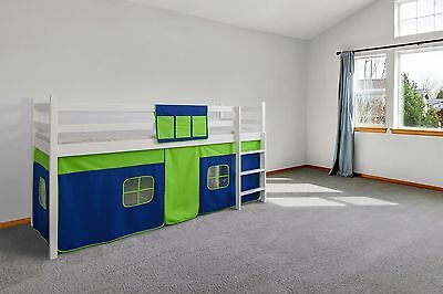 BED TENT Cabin Bed Tent Mid Sleeper Tent Bunk Bed Curtain FREE POCKET RRP14.99 • 32.99£