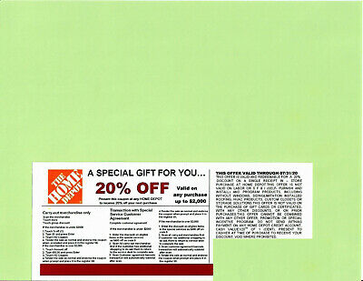 $3 • Buy  **1** 20% OFF HOME DEPOT Competitors Coupon At Lowe's Expires 07/31/20
