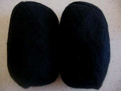 AU20 • Buy 200g Patons Black 8 Ply Brushed Caressa Wool Mohair Blend Knitting Yarn