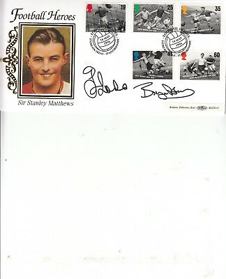 £29.99 • Buy Gianfranco Zola/bryan Robson Hand Signed Stanley Mathews First Day Cover