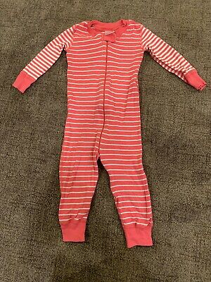 $8 • Buy Hanna Andersson Baby Girl's Organic Pajamas Sz 80 18-24 Months