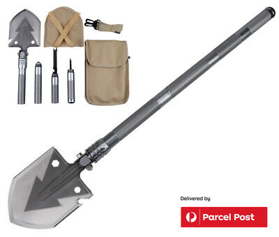 AU42.98 • Buy Folding Camping Shovel 6 In 1 Multi Functional Survival Tool For Outdoor Hiking