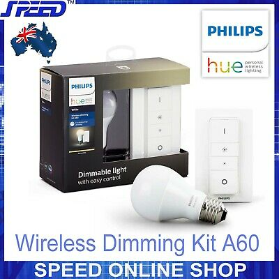AU58.50 • Buy Philips Hue Wireless Dimming Kit A60 - (Wireless Dimmer Switch + E27 Bulb X1)