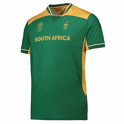 South Africa Team Poly T-Shirt - Green/Gold Mens Square Neck Short Sleeve • 10£