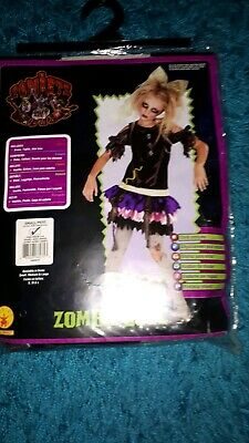 £7.50 • Buy Zombie Doll Kids Fancy Dress Outfit Size Small 3-4 Years Old
