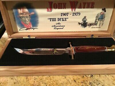 "$175 • Buy New Collector Grade John Wayne ""the Duke"" Bowie Knife And Presentation Box"