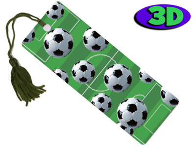 £2.93 • Buy Football Moving 3D Hologram Bookmark With Tassel - Book Place Holder 15 X 5 CM