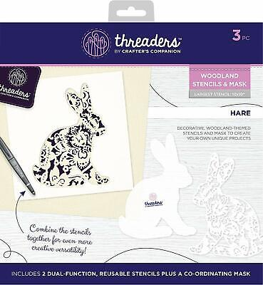 Crafter's Companion -  Threaders Hare Woodland Stencil And Mask, One Size • 9.99£