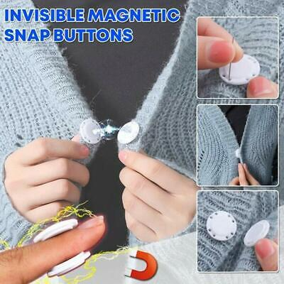 Invisible Magnetic Snap Fasteners Button Set Handbag Purses Sewing Accessories • 1.28£