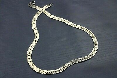 $19.17 • Buy Vintage Silver Toned Herringbone Necklace 6mm 17  Mens Womens Unisex A38
