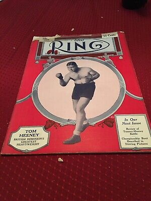 $25 • Buy 1928 Boxing Magazine THE RING Tom Heeney On Cover August 1928