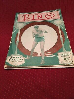$47 • Buy 1928 Boxing Magazine THE RING. Pierre Charles On Cover. Heavyweight Champ 1928