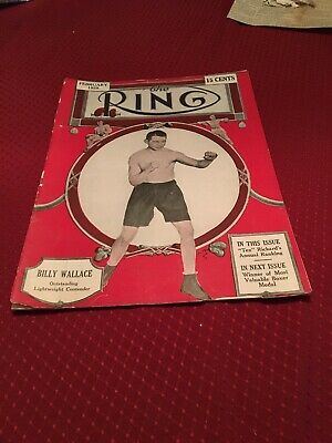 $36 • Buy 1928 Boxing Magazine THE RING. Billy Wallace On Cover February 1928