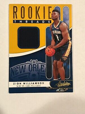 $15.50 • Buy 2019-20 Panini Absolute ZION WILLIAMSON Rookie Threads Jersey JSY Relic RC