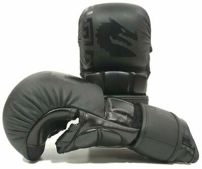 AU57.95 • Buy Morgan B2 Bomber Leather Shoto MMA Sparring Gloves