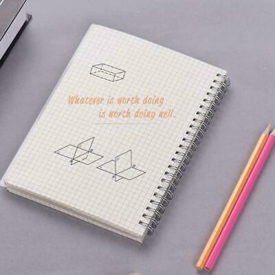 AU11.59 • Buy A5/A6/B5 Coil Notebook Spiral Notebooks With Elastic Pages 5mm Grid Diary B B1H1