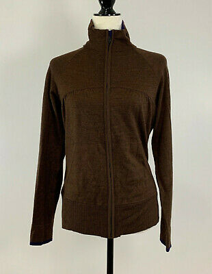 $53.99 • Buy Women's SMARTWOOL Medium Brown Cardigan Zip Sweater Merino Wool