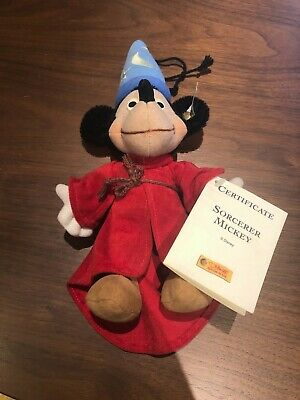 $45 • Buy Steiff Sorcerer Mickey Mouse Sorcerer's Apprentice Ornament Mohair New W/ Tags