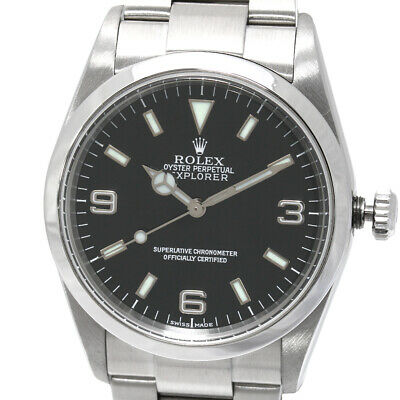 $ CDN10792.97 • Buy Rolex Explorer Black Dial Automatic Winding Stainless Steel 114270  [h0125]