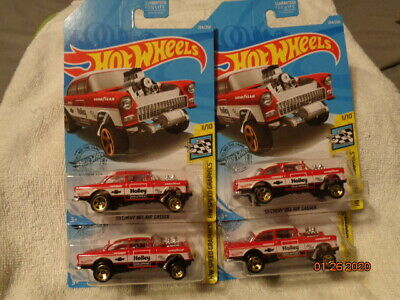 $10.25 • Buy Hot Wheels 2019 Lot Of 4 '55 Chevy Bel Air Gasser Great Cards And Blister's L@@k