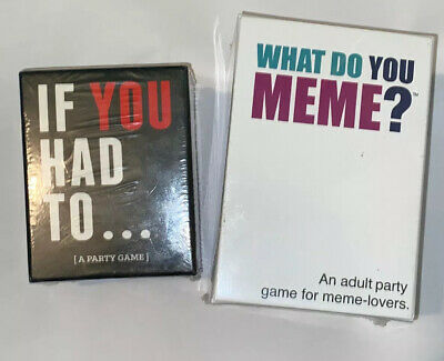 AU51.24 • Buy 2 Games What Do You Meme? Adult Caption Card Party Game Meme & If You Had To
