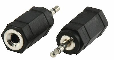 £2.40 • Buy Twin Pack 3.5 Mm MONO Female Socket To 2.5 Mm Mini Jack Male Plug Audio Adapter