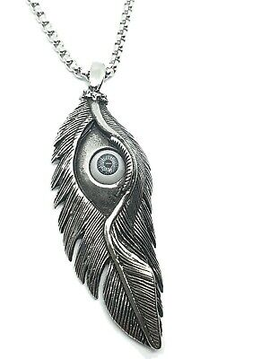 Protection Eye Pendant On 22  Steel Chain Necklace Strange Cool Anti Hex  • 4.95£