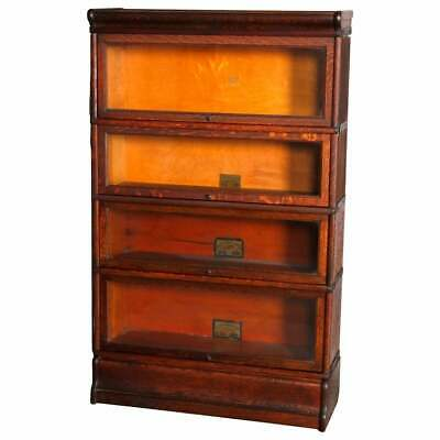 $1387.50 • Buy Arts & Crafts Mission Oak Barrister 4-Stack Bookcase, Globe Wernicke, Circa 1920