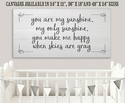 You Are My Sunshine - Large Canvas (Not Printed On Wood) - Stretched Canvas Art • 278.46£