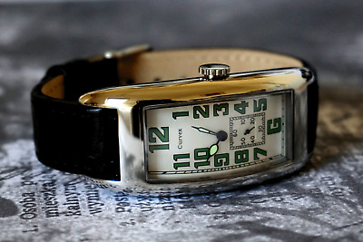 Curvex 1920s Period Style Art Deco Oblong Tanker Watch With Luminous Hands OFFER • 200£